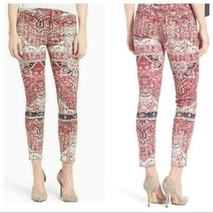7 for All Mankind Print Ankle Skinny Jeans